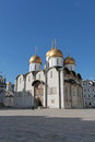 The cathedral of the assumption in moscow kremlin s russian landmarks Stock Image