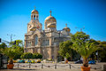 The cathedral of the assumption in varna bulgaria completed and also known as dormition theotokos Royalty Free Stock Image