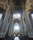 Cathedral of asti interior piedmont italy the historic Royalty Free Stock Photo