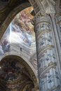 Cathedral of asti interior piedmont italy the historic dome Royalty Free Stock Photography