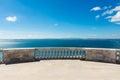 Cathedral Balcony Overlooking Ocean Panteao Nacional Blue Skies Royalty Free Stock Photo