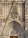 Cathedral in barcelona the of the holy cross and saint eulalia catalonia spain Stock Image