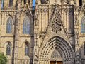 Cathedral in barcelona the of the holy cross and saint eulalia catalonia spain Royalty Free Stock Images