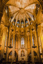 Cathedral of Barcelona Spain Stock Photography