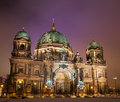 Cathedral berlin evening time Royalty Free Stock Photos