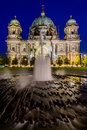 Cathedral in berlin germany at night berliner dom Royalty Free Stock Image