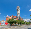 The cathedral of blessed mother teresa in pristina kosovo july roman catholic view from across street Stock Photography