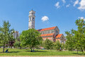 The cathedral of blessed mother teresa in pristina kosovo july roman catholic view from park city center Royalty Free Stock Image