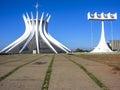 Cathedral of brasilia brazl june city capital brazil Royalty Free Stock Photography