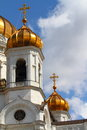 The cathedral of christ the savior famous saviour in moscow russia Royalty Free Stock Photo
