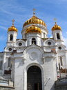 The cathedral of christ the savior famous saviour in moscow russia Royalty Free Stock Photos