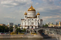 Cathedral of christ the savior in moscow russia Stock Images