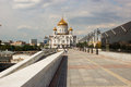 Cathedral of christ the savior in moscow russia Royalty Free Stock Images