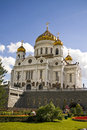 Cathedral of christ the savior moscow russia view in Stock Photo