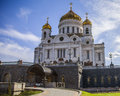 Cathedral of christ the saviour moscow is a in russia on northern bank moskva river a few blocks Royalty Free Stock Image