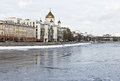Cathedral of Christ the Saviour in Moscow in the winter