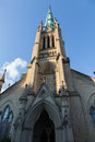 Cathedral church st james toronto the tower and spire of in downtown city ontario canada Royalty Free Stock Photo