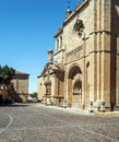 Cathedral of ciudad rodrigo spanish city medieval style it s a vertical picture on a sunny day Stock Images