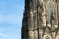 The cathedral of cologne detail from facade Stock Images