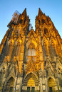 Cathedral of cologne the in germany Royalty Free Stock Images