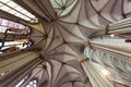 The cathedral of cologne interior ceiling and columns Stock Photography