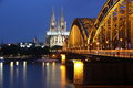 Cathedral of Cologne and iron bridge