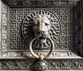 The cathedral of cologne lions head door knocker Stock Photography