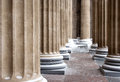 Cathedral columns pattern Royalty Free Stock Photography