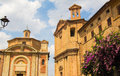 Cathedral of corinaldo the in the marche region Royalty Free Stock Photos