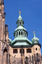 Cathedral cupola in prague in nice day Royalty Free Stock Photo