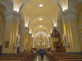 Cathedral de arequipa peru mar interior of on march in the church is ornate facade and main altar covered Stock Image