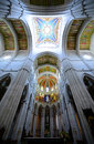 Cathedral de la almudena madrid spain interior of of saint mary the royal of is a catholic in Stock Photo