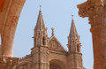 Cathedral de majorca spain detailed facade of catholic in the old town of palma mallorca Stock Image