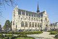 Cathedral de notre dame du sablon s Photo stock