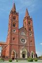 Cathedral in djakovo imposing building the center of djaki hrvatska gradnju began bishop josip juraj strossmayer was Stock Photography