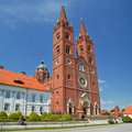 Cathedral in djakovo imposing building the center of djaki hrvatska gradnju began bishop josip juraj strossmayer was Royalty Free Stock Images