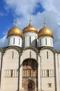Cathedral of the Dormition in Moscow Kremlin Stock Images