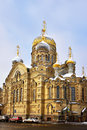 Cathedral of dormition of theotokos optina monastery town church ‎ lieutenant schmidt embankment saint petersburg russia Stock Photo