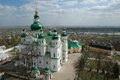 Cathedral in eletskiy assumption monastery in chernigov ukraine Royalty Free Stock Images