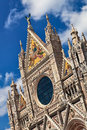 Cathedral facade in Siena. Royalty Free Stock Photos