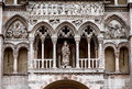 The cathedral in ferrara facade built romanesque style Stock Images
