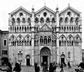 Cathedral of ferrara romanic xii century and gothic st george Stock Image