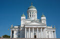 Cathedral in finland helsinki main Royalty Free Stock Image