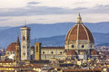 Cathedral of florence view from the piazzale michelangelo viewing point Stock Images