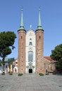 Cathedral in gdansk oliwa poland basilica of the holy trinity Royalty Free Stock Photos