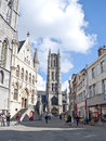 Cathedral of Ghent Stock Image