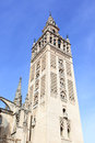 Cathedral with giralda bell tower symbol of seville Royalty Free Stock Photography