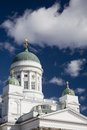 Cathedral in helsinki on senate square Royalty Free Stock Image
