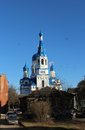 Cathedral of the holy virgin in the city of gatchina leningrad region spring Stock Photo