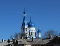 Cathedral of the holy virgin in the city of gatchina leningrad region spring Royalty Free Stock Photo